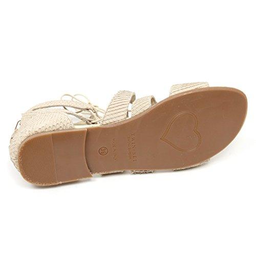 Set Scarpa Sandalo Simona Beige Kid Girl Beige Twin C9634 BARBIERI Shoe Bimba FdfnCWq