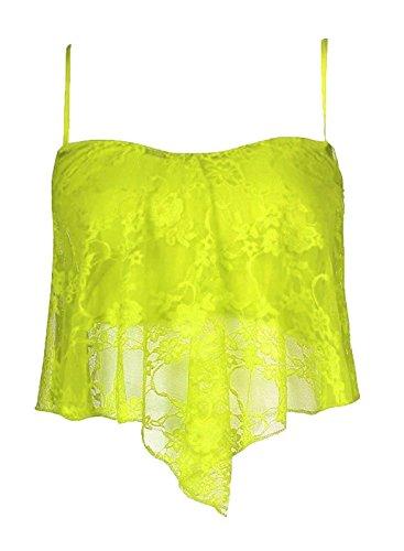 Freedom & Fashion - Camiseta sin mangas - para mujer Neon Yellow