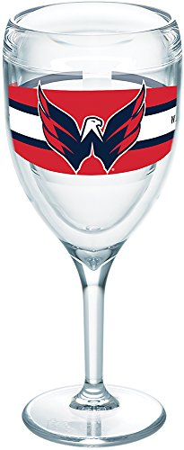 Tervis 1265624 NHL Washington Capitals Select Tumbler with Wrap 9oz Wine Glass, Clear
