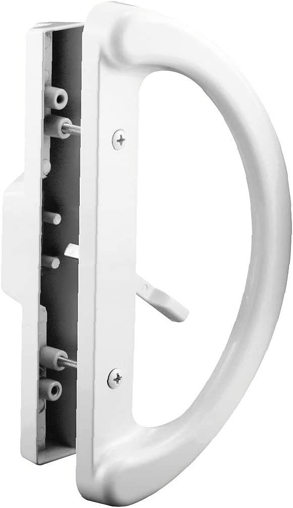 "Replace Old or Damaged Door Handles Quickly and Easily Fits 3-15//16/"" Hole Spacing Mortise Style Prime-Line C 1225 Sliding Patio Door Handle Set - New Non-Keyed White Diecast"