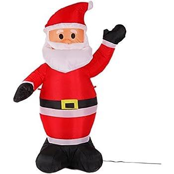 Amazon.com: fashionlite 4 foot Navidad Xmas Santa Claus ...
