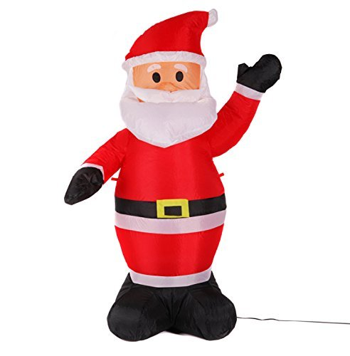 Fashionlite 4 Feet Christmas Xmas Inflatable Santa Claus Lighted Blow-Up Yard Party Decoration INBLE001