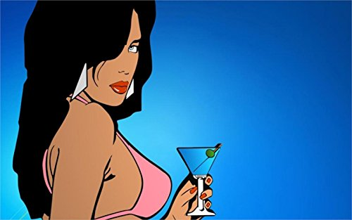 The Most Exciting Game Poster Grand Theft Auto Vice City Girl Game Canvas Print