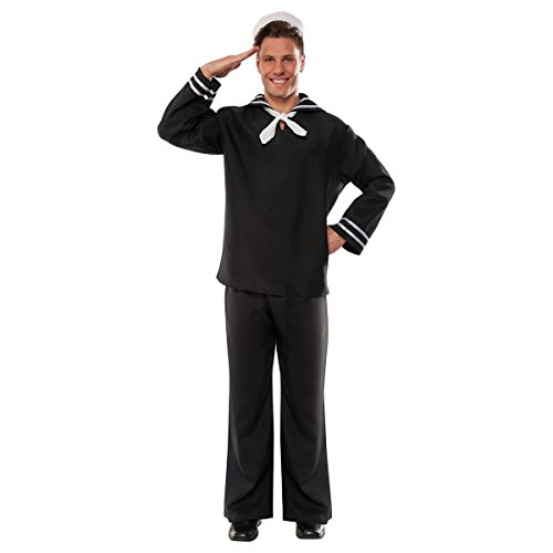 Pizazz! Men's Adult First Mate Costume, Black, 2XL
