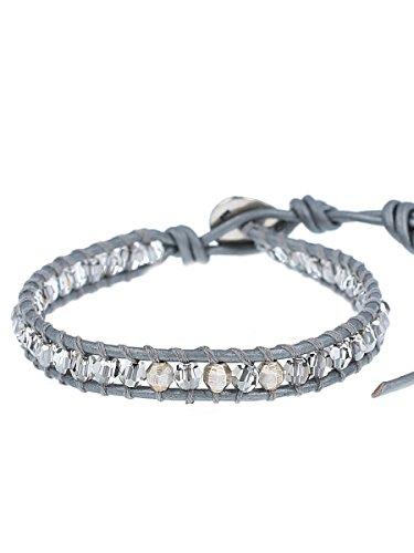 Chan Luu Crystal Satin Mix Single Wrap Bracelet, BS-4992 (Chan Luu Single Wrap)