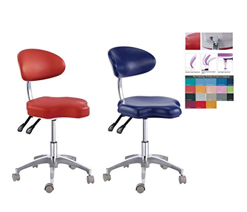 (Case of 2 Units,Zgood PU Leather Medical Dentist's Chair Doctor's Stool Adjustable Mobile Chair)