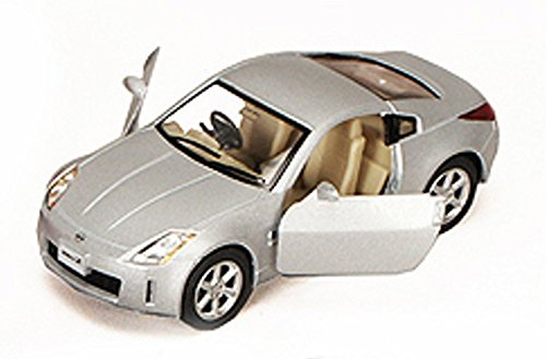 New Nissan 350z - Nissan Fairlady 350Z, Silver - Kinsmart 5061D - 1/34 scale Diecast Model Toy Car (Brand New, but NO BOX)