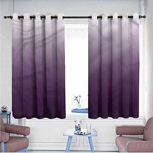Mdxizc Printed Curtain Ombre Ombre Girl Room Blackout Curtain W63 xL63 Suitable for Bedroom,Living,Room,Study, - Ombre Sport Satin Yarn