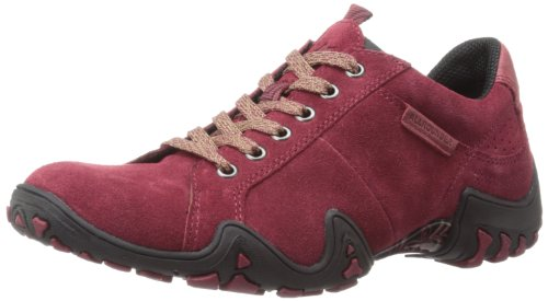 ALLROUNDER by MEPHISTO Women's Funny Oxford,Bordeaux Suede,7.5 M US