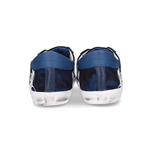 Philippe Model Mannen Clluad03 Blauw Lederen Sneakers