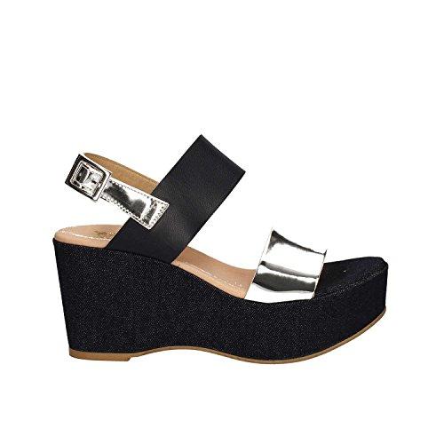 Grace Shoes Maratea 91 F3 Sandalias Altos Mujeres Azul
