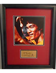 Bruce Lee autographed card