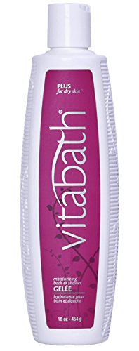 Vitabath Moisturizing Bath & Shower Gelée, Plus For Dry Skin, 16-Ounces
