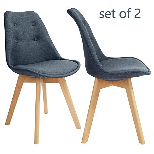 GreenForest Kitchen Chairs Set of 2 Modern Fabric Dining, used for sale  Delivered anywhere in USA