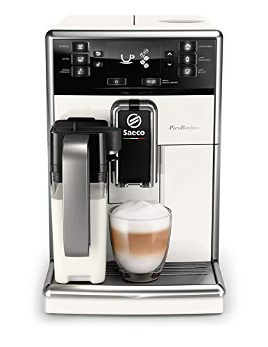 Saeco super-automatic espresso coffee machine with an adjustable grinder, milk frother, maker for brewing espresso, cappuccino, latte. PicoBaristo SM5478/10