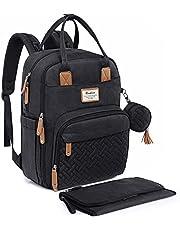 RUVALINO Neutral All-in-One Diaper Bag Backpack for Boys Girls