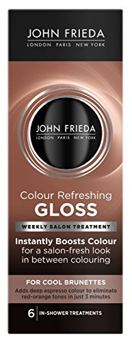 John Frieda Colour Refreshing Gloss, Cool Brunette, 6 Ounce Hair Color Glaze