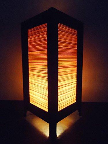 Bamboo Table Light (Japan Oriental Design Bamboo Art Bedside Floor or Table Lamp Lighthing Decor Modern Design)