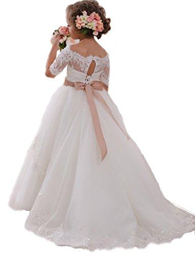 JYDress - Vestido - corte imperio - para mujer blanco blanco 38