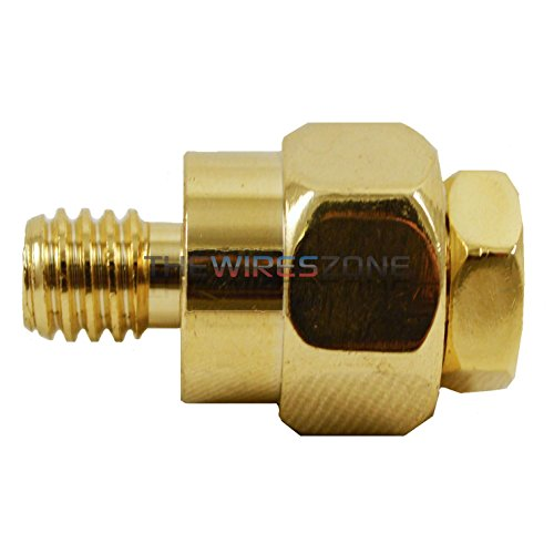 Car Audio Power Wire Amp Install GM Side Post Battery Terminal (Short, Gold)