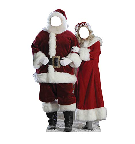 Advanced Graphics Santa and Mrs. Claus Life Size Cardboard Cutout Stand-In ()