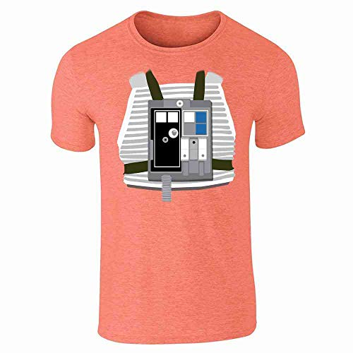 X-Wing Pilot Halloween Costume Funny Heather Orange L Short Sleeve T-Shirt