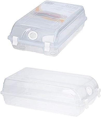 Lifetime - Caja de almacenaje para Zapatos (apilable, con Tapa), Transparente, XL: Amazon.es: Hogar