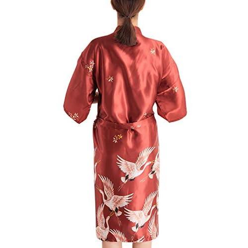 Glatt Damen Dessous Morgenmantel Spitze Bademantel Kimono Negligee Nachtwäsche