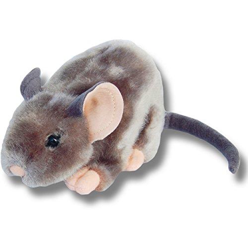 Unitoys Plüschtier Maus, graues Mäuschen Kuscheltier, ca. 15 cm überlebensgroßes Stofftier