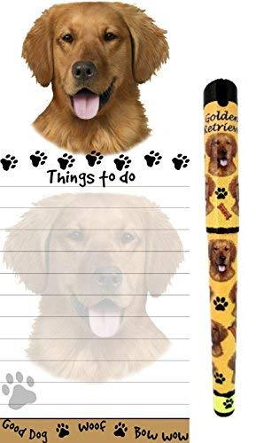 Pets Retrievers Golden (Golden Retriever Pet Lovers Magnetic To-Do List Pad and Easy Glide Gel Pen)