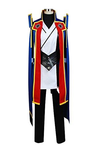 Jin Male Costumes (Cosplaybar BlazBlue Calamity Trigger Jin Kisaragi Cosplay Costume Male XXXL)
