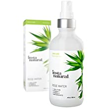 InstaNatural 100% Pure & Natural Moroccan Rose Water Ultimate Facial Toner 4 Fluid Ounce