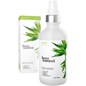 InstaNatural Rose Water Facial Toner for Face, Hair, Body – Organic, Natural Anti Aging Mist – Eau Fraiche – Alcohol…