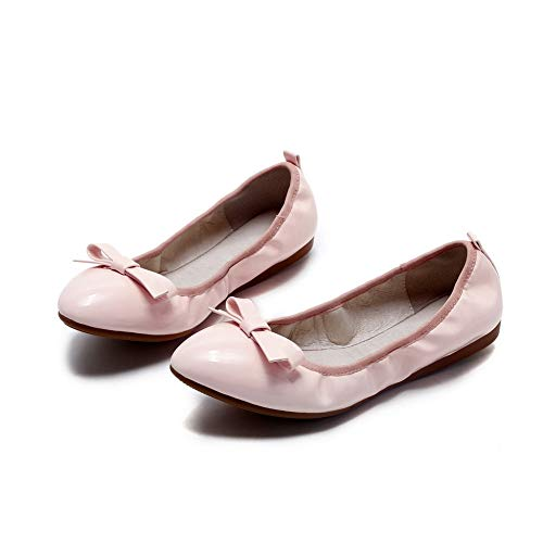 Leather APL10769 Pink BalaMasa Shoes Travel Womens Casual Pumps Bows wwcqPZOv