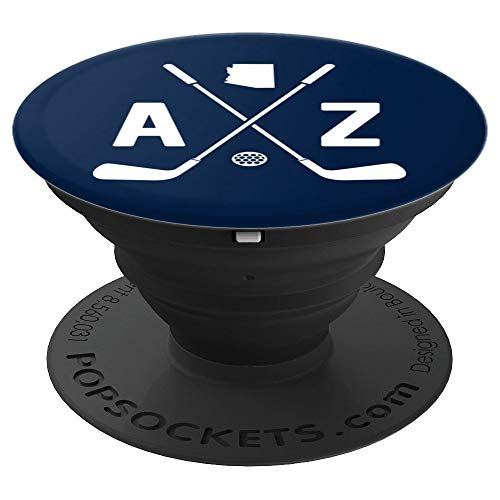 Proud Arizona Golfer AZ State Outline and Golf Clubs PopSockets Grip and Stand for Phones and Tablets (Best Golf Courses In Arizona)