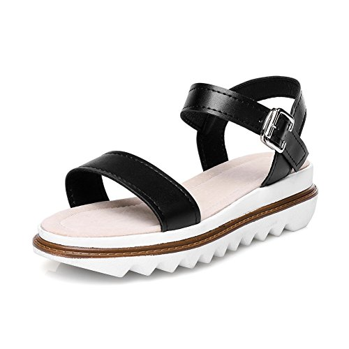 Platforms Black Color 1TO9 Urethane Sandals Platforms Assorted Sandals Womens MJS02507 4TCCxUqwH