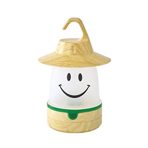 - Time Concept SMiLE Soft LED Night Lantern - Woody Beige - Hanging Lamp, Battery-Operated