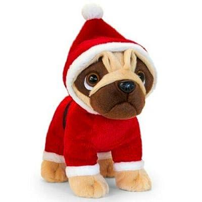 Keel Toys 25cm Standing Christmas Pugsley (Santa): Toys & Games