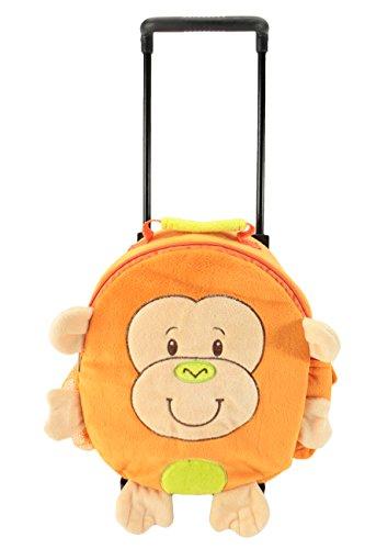- Animal Adventure Happy Trolley Monkey Backpack, Orange/Tan, 21