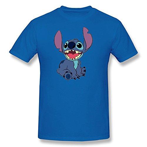 AnneLano Men's Stitch T Shirt Small RoyalBlue