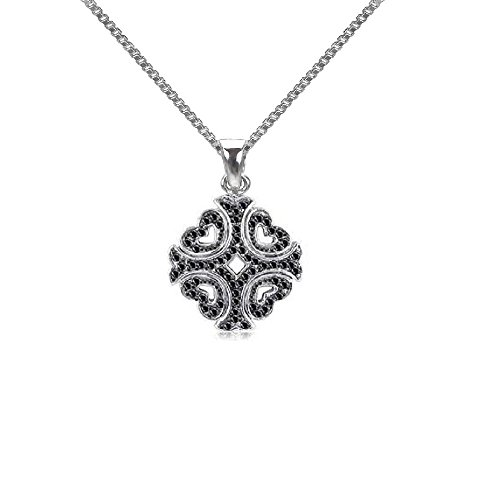 Sterling Silver Black Diamond