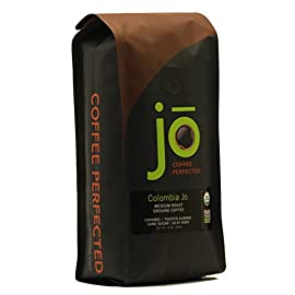 COLOMBIA JO: 12 oz, Organic Ground Colombian Coffee, Medium Roast, Fair Trade Certified, USDA Certified Organic, 100% Arabica Coffee, NON-GMO, Gluten Free, Gourmet Coffee from Jo Coffee