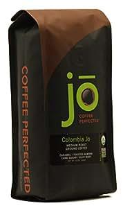 COLOMBIA JO: 12 oz, Organic Ground Colombian Coffee, Medium Roast, Fair Trade Certified, USDA Certified Organic, 100% Arabica Coffee, NON-GMO, Gourmet Coffee from the Jo Coffee Collection