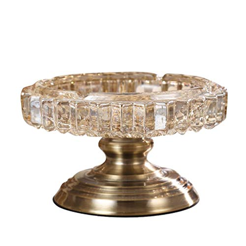 Portable Ashtrays Neoclassic Model European Crafts Ornaments Home Decorations Crystal Glass Ashtray Home Table Ash Trays ()