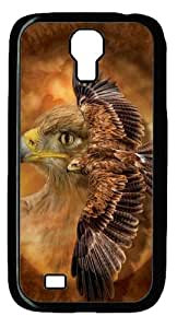 Tawny Eagle Spirit PC Case Cover for Samsung Galaxy S4 and Samsung Galaxy I9500 ¡§C Black