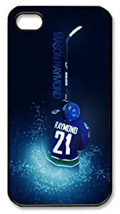 icasepersonalized Personalized Protective Case for iphone 4 - NHL Mason Raymond Blue Spark