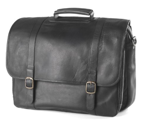 (Clava Executive Notebook Briefcase - Leather - Tuscan Black - Tuscan Black)