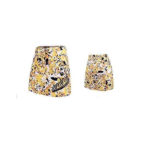 Kayiyasu ゴルフスカート ジュニアゴルフウェア 見せパン付き オシャレスポーツウェア ガールズゴルフスカート 女の子 2018 春夏 021-xsty-qz018(S(120cm) イエロー)