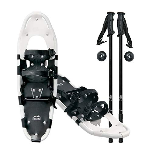 ALPS Performance Snowshoes with Pair Antishock Snowshoes Poles + Free Carrying Tote Bag (30 INCHES)