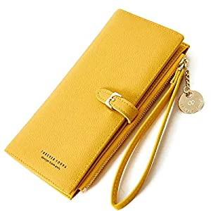 Yellow Wallet with Phone Pocket for Women